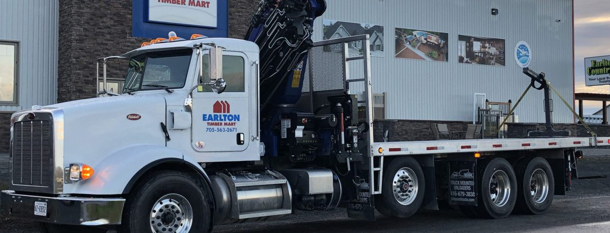 earlton timber mart - we deliver, large truck delivery page banner