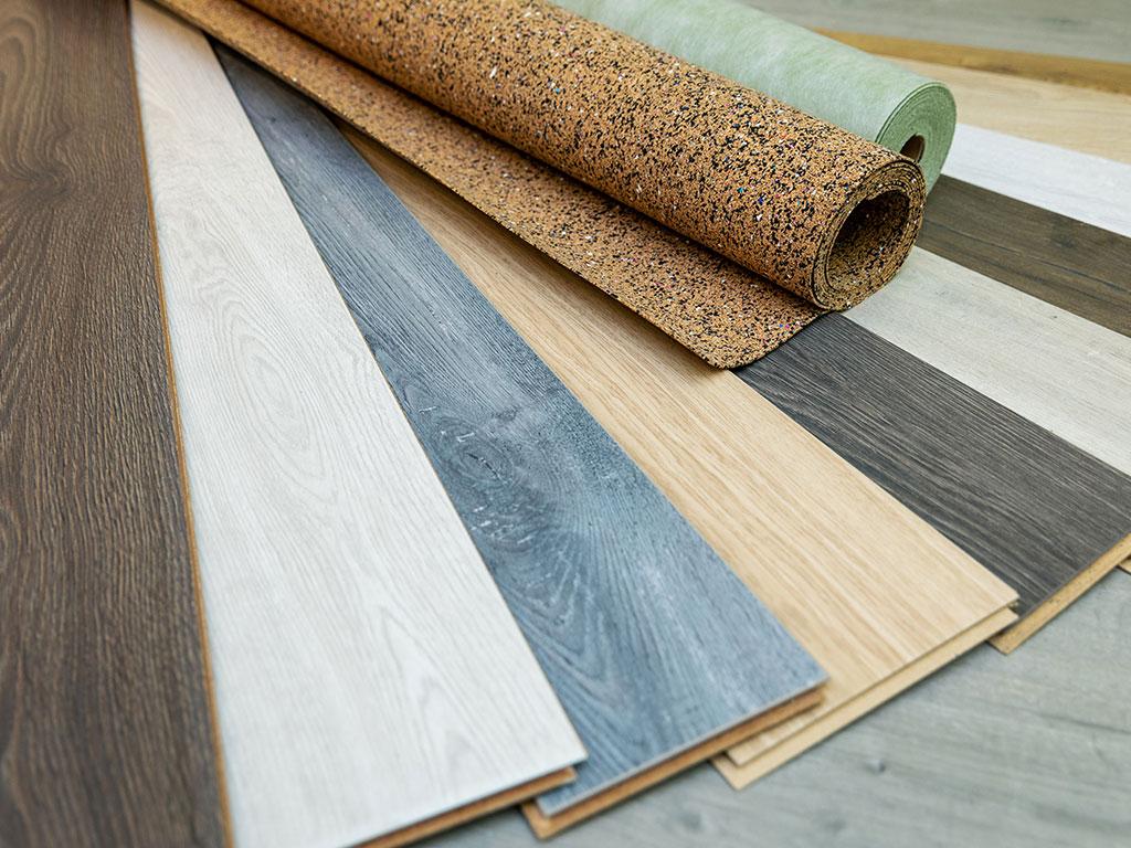 Various flooring materials
